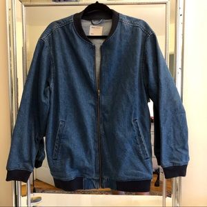 Oversized Denim Bomber Jacket